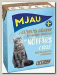 Консервы для кошек, Mjau Мясные кусочки в желе с рубленой говядиной