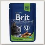 Консервы для стерилизованных кошек Brit Premium с курицей