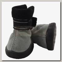 Ботинки для собак Triol серые №1