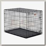 Клетка для домашних животных MidWest iCrate, черная, 1 дверь
