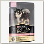 Влажный корм Pro Plan для собак для мелких и карликовых пород с чувствительным пищеварением, с лососем в соусе, пауч