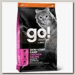 Сухой корм для котят и кошек Go! Solutions Skin + Coat Care Chicken Recipe for Cats с цельной курицей, фруктами и овощами
