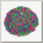 Гравий для аквариума GloFish Розовый/зеленый/голубой, с GLO вкраплениями