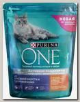 Сухой корм для кошек Purina One для красивой шерсти и контроля образования волосяных комков с курицей и цельными злаками