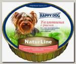 Консервы для собак Happy Dog Natur Line, паштет с телятиной и рисом