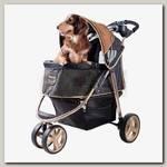 Коляска для собак и кошек Ibiyaya Monarch Premium, до 28 кг темно-золотой
