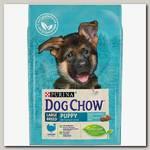 Сухой корм для щенков крупных пород Dog Chow Puppy Large Breed, с индейкой