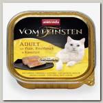 Консервы для взрослых кошек Animonda Vom Feinsten Adult меню для гурманов с индейкой, говядиной и морковью
