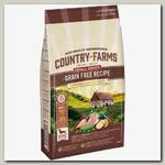 Беззерновой корм для взрослых собак мелких пород Country Farms, полнорационный, с высоким содержанием индейки