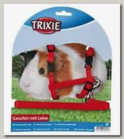 Шлейка-жилетка для морской свинки,TRIXIE, полиэстер/нейлон