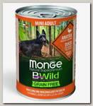 Консервы для собак мелких пород Monge Dog BWild Grainfree Adult Mini из утки с тыквой и кабачками