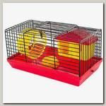 Клетка-мини для грызунов Дарэлл ECO, шаг прута 10 мм, 27*15*h13см (в компл. домик, миска, колесо)