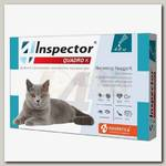 Капли для кошек от 4 до 8 кг Inspector Quadro К от внешних и внутренних паразитов