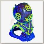 Декорация для аквариума GloFish Водолазный шлем с GLO-эффектом