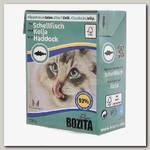 Консервы для кошек Bozita Tetra Pak Feline Haddock Кусочки в желе Морская рыба