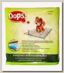 Пеленки для домашних животных OOPS! Впитывающие гелевые с водяными знаками, 18 шт 48х35 см