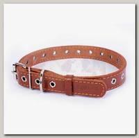 Ошейник для животных Collar кожаный безразмерный, коричневый