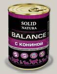 Консервы для собак Solid Natura Balance Конина