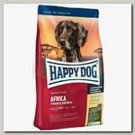 Сухой монобелковый корм для собак Happy Dog Supreme Sensible мясо страуса без содержания злаков и кукурузы