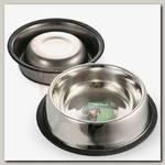 Миска для животных Triol металлическая на резинке, 0,20л