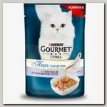 Влажный корм для кошек Gourmet Перл Соус Де-люкс с телятиной в роскошном соусе, пауч