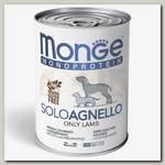 Консервы для собак Monge Dog Monoprotein Solo паштет из ягненка
