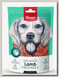 Лакомство для собак Wanpy Dog сосиски из мяса ягненка