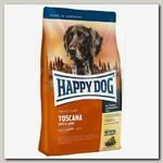 Корм для чувствительных собак Happy Dog Supreme Toscana утка и лосось