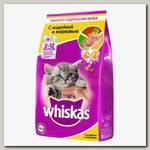 Корм для котят Whiskas подушечки молочные индейка и морковь