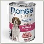 Консервы для собак Monge Dog Fresh Chunks in Loaf мясной рулет свинина