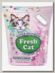 Наполнитель для кошачьих туалетов Fresh Cat Утренняя свежесть, силикагелевый с ароматом 5 л
