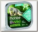 Консервы для кошек Monge Cat Bwild Grain free из трески с овощами