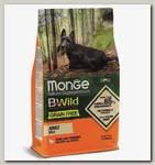 Беззерновой корм для взрослых собак мелких пород Monge Dog BWild Grain Free Mini из мяса утки с картофелем