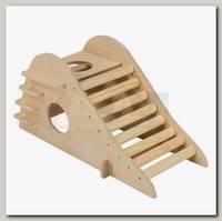 Домик для грызунов Дарэлл Горка с роликами 21,5*10,5*h11 см.