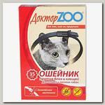 Ошейник Доктор ZOO для кошек и мелких собак против блох и клещей, 35 см
