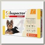 Инсекто-акарицидные капли Inspector Quadro C для собак массой 1-4 кг от всех паразитов