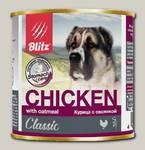 Консервы для собак всех пород и возрастов Blitz с курицей и овсянкой