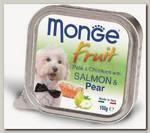 Консервы для собак Monge Dog Fruit лосось с грушей