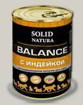 Консервы для собак Solid Natura Balance Индейка