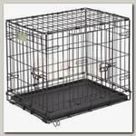 Клетка для животных MidWest iCrate 2 двери черная