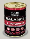 Консервы для собак Solid Natura Balance Говядина