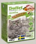 Консервы для кошек BUFFET Tetra Pak кусочки в желе с домашней птицей
