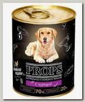 Влажный корм для собак Props мясной с курицей