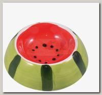 Миска для грызунов КерамикАрт керамическая Арбузик
