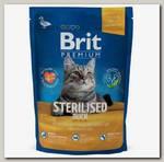 Сухой корм для стерилизованных кошек Brit Premium Cat Sterilised Утка, курица и куриная печень