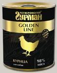 Консервы для собак Четвероногий Гурман Golden line, из чистого мяса курицы
