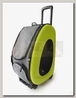 Складная сумка-тележка для собак до 8 кг Ibiyaya (3 в 1 сумка, рюкзак, тележка)