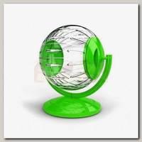 Игрушка для грызунов GEORPLAST колесо на подставке шар 12,5 см