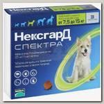 Таблетки жевательные для собак 7,5-15 кг Merial Фронтлайн НексгарД Спектра №3