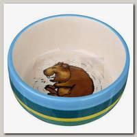 Миска керамическая TRIXIE для морских свинок 250мл, разноцветная/кремовая